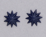 pierced earring posted stainless steel navy asterisk