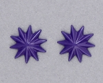 pierced earring posted stainless steel purple asterisk