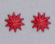 pierced earring posted stainless steel red asterisk