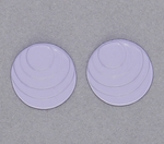 pierced earring posted stainless steel step circle lavender