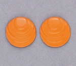 pierced earring posted stainless steel step circle marigold