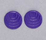 pierced earring posted stainless steel step circle purple