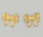 pierced earrings Gold Bow