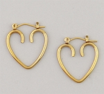 pierced earrings Gold Heart joint & catch