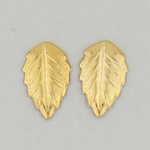 Pierced earrings Gold Leaf Elm