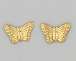 pierced earrings Gold posed Butterfly small