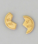 Pierced earrings Gold posted Best friends