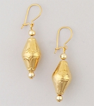 pierced earrings Gold posted Pearl prong setting 5mm