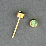 pierced earrings Gold posted stud 3mm August Birthstone