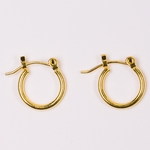 pierced earrings gold tiny joint and catch hoop