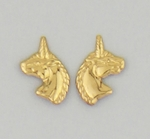 pierced earrings Gold Unicorn tiny