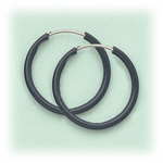 Pierced earrings gray endless 5/8 hoop
