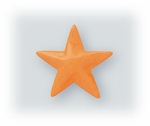 pierced earrings posted enameled Stainless Steel Star marigold yellow