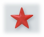pierced earrings posted enameled Stainless Steel Star red