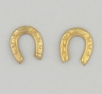 pierced earrings posted Gold tiny horseshoe