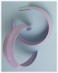 pierced Earrings posted Hoop pale lavender large creased