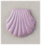 pierced earrings posted lavender shell tiny
