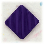 Pierced earrings posted Stainless Steel Square purple fluted
