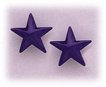 Pierced earrings posted Stainless Steel Star bright blue