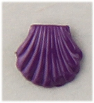 pierced earrings posted violet shell tiny