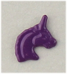 pierced earrings posted violet unicorn