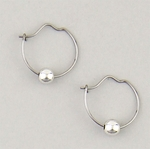 pierced earrings Silver Hoop continuous wire small 4 millimeter silver