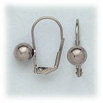 Pierced earrings Stainless Steel Ball 6mm Euro-clasp