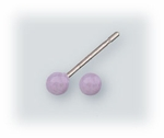 Pierced earrings Stainless Steel posted ball 3mm Lavender
