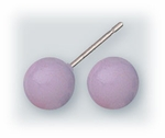 pierced earrings Stainless Steel posted ball 7mm Lavender