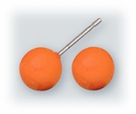 pierced earrings Stainless Steel posted ball 7mm marigold yellow