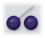 pierced earrings Stainless Steel posted ball 7mm Purple