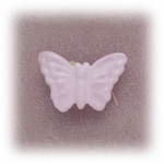 Pierced earrings Stainless Steel posted Butterfly pastel pink