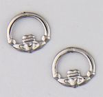 pierced earrings Stainless Steel posted Claddagh