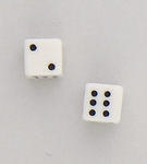 pierced earrings Stainless Steel posted Dice