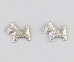 pierced earrings Stainless Steel posted Dog Scotty small