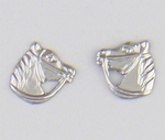 pierced earrings Stainless Steel posted Horse head