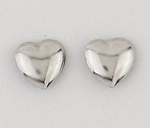 pierced earrings Stainless Steel posted puffed heart