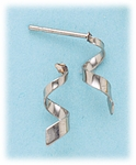 pierced earrings Stainless Steel posted tiny cork screw