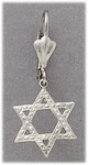 pierced earrings Stainless Steel Star of David Euro-clasp