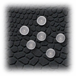 Plastic Disk invisible earring stud clasp - 3 Pair