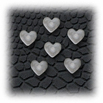Plastic Heart invisible earring stud clasp - 3 Pair