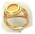Ring gold conch cross