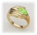 Ring lime Cubic Zirconia