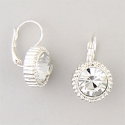 Silver Euro Clasp Lever Back Earrings