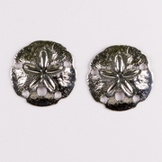 Silver posted earrings