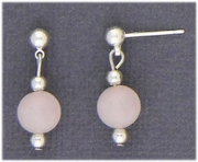 Silver Posted with drops and pearls