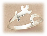 Toe Ring sterling silver lizard design adjustable