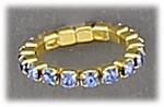 Toe Ring Stretch Band Blue Crystals