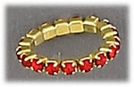 Toe Ring Stretch Band Red Crystal