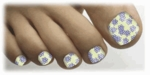 Toenail Art Veneers Field of Dreams design